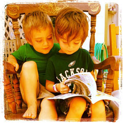 Buster & Charlie Reading